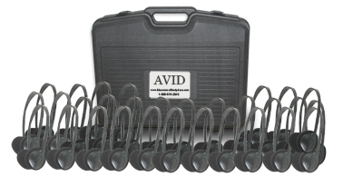 Avid AE-18 On-Ear Headset with Mic (Classroom 30-Pack with Case)