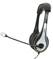 Avid AE-36 On-Ear Headset with Mic (White) LARGE