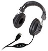 Avid AE-808USB Over-Ear Headphones with Volume Control (Black)