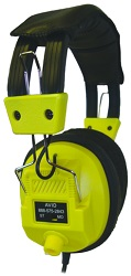 Avid AE-808 Over-Ear Headphones with Volume Control (Yellow)