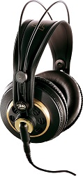 AKG 240 Professional Stereo Headphones LARGE