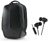 "Mobile Edge Alienware Vindicator Carrying Case Backpack for 17"" Laptops w/FREE! Wireless Earphones"