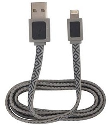 AR for Her Lightning 3 Ft Power & Sync Cable (Black & Gray)