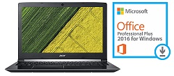 "Acer Aspire 5 A517-51 17.3"" Intel Core i3 8GB RAM Notebook PC with Microsoft Office Pro 2016"