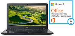 "Acer Aspire E5-553G-F55F 15.6"" AMD FX-9800P 16GB RAM Notebook PC with Win10 & MS Office Pro 2016"