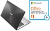 "ASUS X555DA 15.6"" AMD A10 4GB Laptop with SonicMaster Audio & MS Office Pro 2016 (Black)"