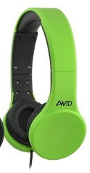 Avid AE-42 On-Ear Stereo Headset with Mic (Green) LARGE
