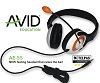 Avid AE-55 On-Ear Stereo 3.5mm TRRS Headset with Microphone (Orange)