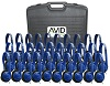 Avid AE-711 On-Ear Headphones (Classroom 30-Pack with Case) (Blue) THUMBNAIL