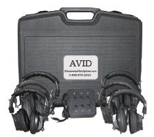 Avid AE-808 Over-Ear Headphones Classroom 6-Pack with Jack Box & Case (Black)