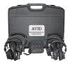 Avid AE-808 Over-Ear Headphones Listening Center with Jack Box and Boom Box