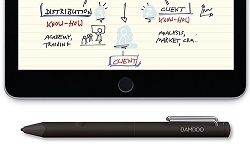 Wacom Bamboo Fineline Stylus Pen for iPhone & iPad with FREE Paper App