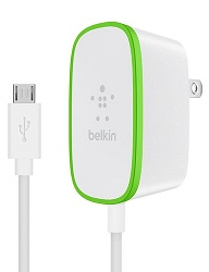 Belkin Home Charger with Built-In Micro USB Cable LARGE