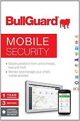 BullGuard Mobile Security 1-Year Subscription for up to 3 Devices (Activation Card) LARGE