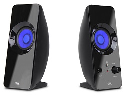 Cyber Acoustics CA-2806BT 2.0 CurveLight Wireless Bluetooth Speaker System with LED Effects LARGE