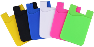 Cell Phone Card Wallet  (For Credit Cards & Id)- For iPhone, Android & Most Smartphones (Free Ship) LARGE
