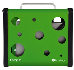 LocknCharge CarryOn 5-Tablet Ultra-Portable Charging Station (Green) LARGE