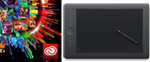 Adobe Creative Cloud (1 Year Sub) with Wacom Intuos Pro Touch Tablet - Medium