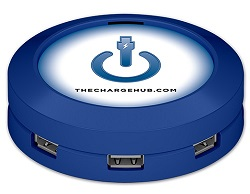 Limitless Innovations ChargeHub Round 7-Port USB Charging Station (Blue)
