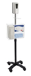 "CTA 49"" Compact Mobile Sanitizing Station with Automatic Soap Dispenser LARGE"