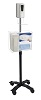 "CTA 49"" Compact Mobile Sanitizing Station with Automatic Soap Dispenser THUMBNAIL"