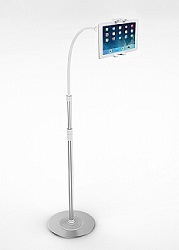 CTA Digital 2-in-1 Flexible Floor Stand LED Lamp and Mount for iPad or Tablet