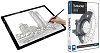 "Adesso CyberPad P2 12"" x 17"" LED Light Tracing Pad with FREE TurboCAD Deluxe 2019 THUMBNAIL"