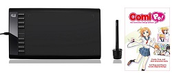 "Adesso CyberTablet T12 10"" x 6"" Ultra-Thin Graphics Tablet with FREE Manga Software (On Sale!)"