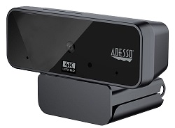 Adesso CyberTrack H6 4K Ultra HD USB Webcam with Built-in Dual Microphone & Privacy Shutter Cover LARGE
