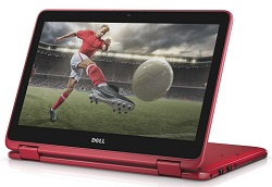 "Dell Inspiron 11 3168 11.6"" Touchscreen Intel Pentium 4GB RAM 500GB HD 2-in-1 PC (Red) (Refurb)"