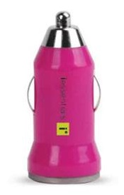 DigiPower iEssentials USB Car Charger (Pink)