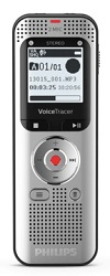Philips VoiceTracer DVT2050 8GB Digital Audio Recorder with FM Tuner LARGE