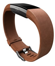 FitBit Charge 2 SmartBand Accessories Leather Band (Brown / Large)