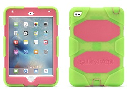 Griffin Survivor All-Terrain Case for iPad Mini 4 (Green/Pink)
