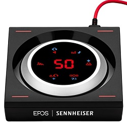 EPOS I SENNHEISER GSX 1000 Audio Amplifier w/FREE! LED Mouse Pad LARGE