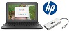 "HP 11 G6 EE 11.6"" Intel Celeron 4GB RAM 16GB Memory ChromeBook PC Premium Edition"