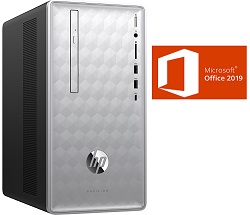 HP Pavilion 590-P0039 AMD A12 16GB RAM Desktop PC w/MS Office Pro 2019 (Refurbished)_LARGE