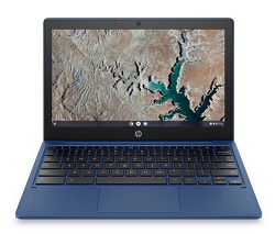 "HP Chromebook 11.6"" Touchscreen MediaTek MT8183 4GB RAM 32GB eMMC (Indigo Blue) LARGE"