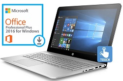 "HP ENVY 15-AS133CL 15.6"" Touchscreen Intel Core i7 16GB Laptop w/Office 2016 Pro Plus (Refurbished)"