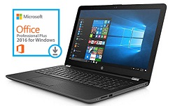 "HP 15-BS028CL 15.6"" Intel Pentium 8GB Laptop PC w/MS Office Pro 2016 (Refurbished)"