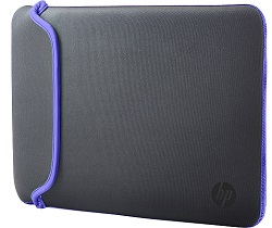 "HP Carrying Case Sleeve for 15.6"" Laptops (Gray/Purple)"
