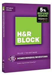 H&R Block 17 Deluxe Tax Filing Software for Windows (Download)