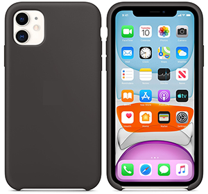 iPhone 11/11 Pro Silicone Case (Compares to Apple Silicone Case) with Free Screen Protector LARGE