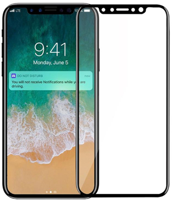 iPhone X, XR, IS Max 3D Curved Tempered Gummed Glass (2 PACK) LARGE