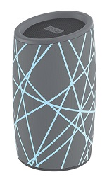 iHome IBT77GL Wireless Bluetooth Speaker with 5-Color Accent Lighting (Gray/Light Blue)