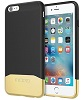 Incipio EDGE Chrome Slider Case for iPhone 6s Plus (Black/Gold)