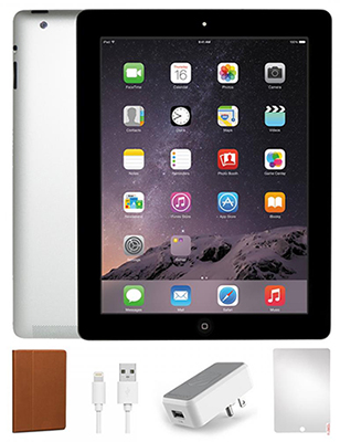 Apple iPad 4 with Retina Display 16GB Student Bundle (Black) (Refurbished) LARGE