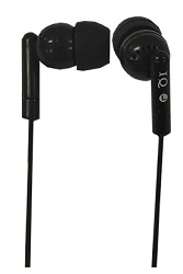 IQ Sound Porockz Stereo Earphones (Black) LARGE