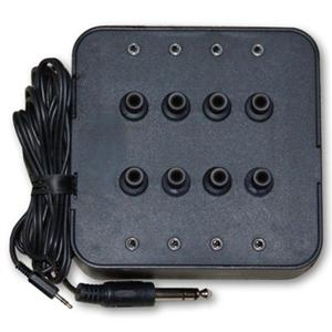 Avid 8KP35S 8-Outlet Stereo Jack Box with Volume Control LARGE