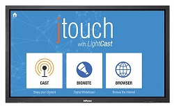 "InFocus JTouch 65"" Whiteboard with LightCast"